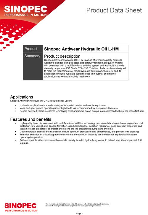 Word - Antiwear Hydraulic Oil L-HM